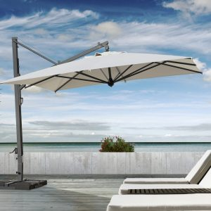 veneto maxi umbrella shading some beach chairs on a deck