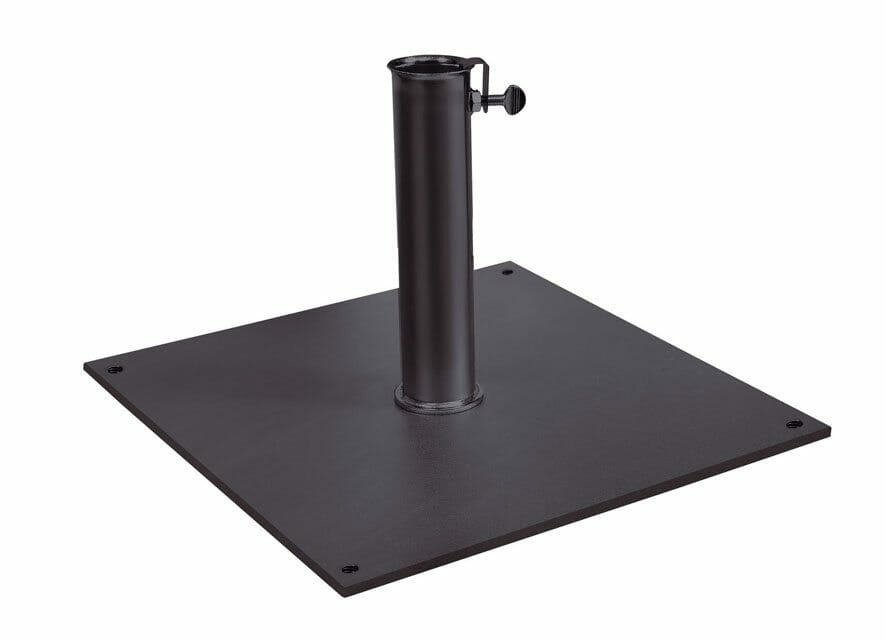 sand-filled aluminum base plate option for viola umbrella