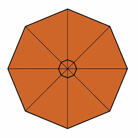 bitter orange fabric option for p-6 square quattro umbrella