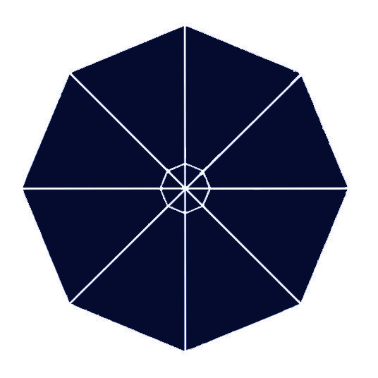 night blue fabric option for p-6 square quattro umbrella