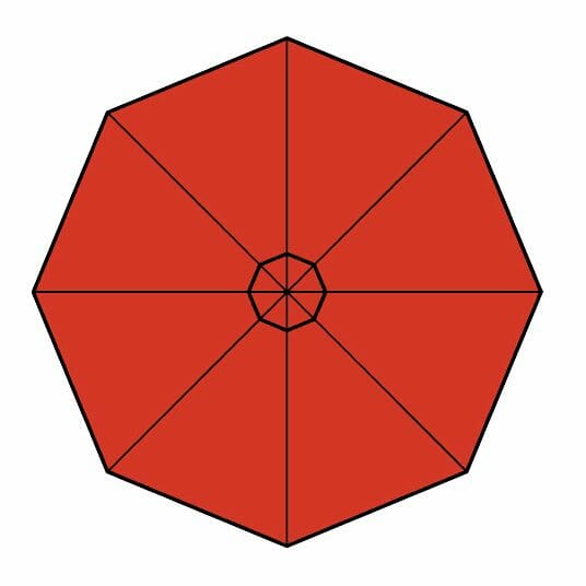 terra cotta fabric option for p-6 square quattro umbrella