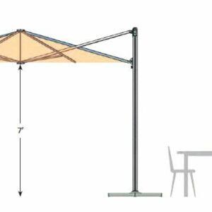 rendering and dimensions of p6 square umbrella