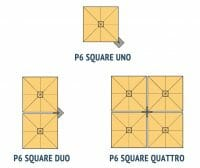 visual breakdown of p6 square uno vs p6 square duo vs p6 square quattro umbrellas