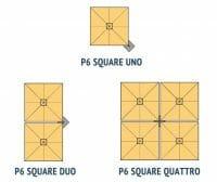 visual breakdown of p6 square uno vs p6 square duo vs p6 square quattro umbrellas