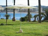 P50 Umbrella on the grass next to a beach