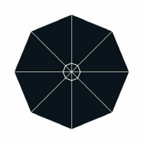 black widow fabric option for p-6 square quattro umbrella