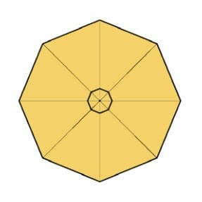 buttercup fabric option for p-6 square quattro umbrella