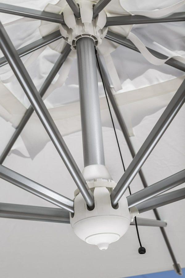 Veneto Cantilever Umbrella inox finishing