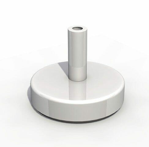 sand-filled aluminum base plate option for p50 umbrella