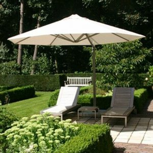 P6 Round Uno Umbrella shading outdoor lounge chairs