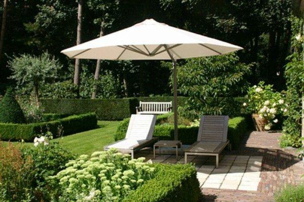 P6 Round Uno Umbrella shading outdoor lounge chairs