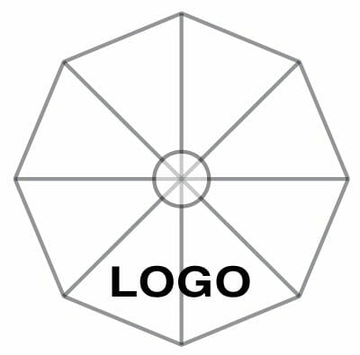 custom logo on standard fabric colors option for p-6 square quattro umbrella