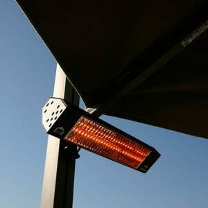 infrared heater option for p-6 square quattro umbrella