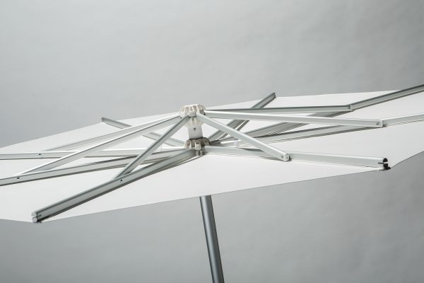 single pole commercial umbrella that opens upright