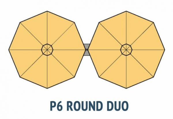 P6 Round Duo Umbrella