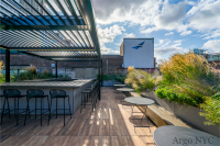 2000 series outdoor shelter covering an outside bar at Argo NYC