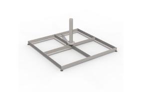 Steel base 100 x 100