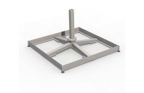 Steel base 90 x 90