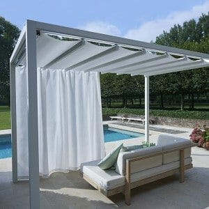 Retractable Roof Poolside Cabanas Shelter Outdoor Living